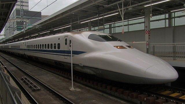 新幹線に乗って出張遠征